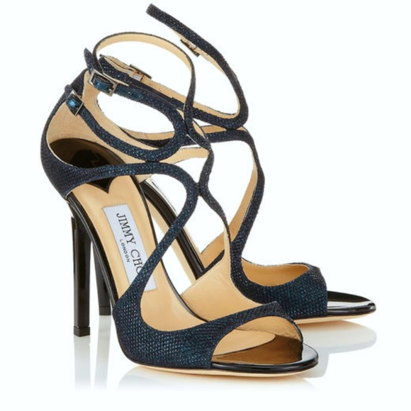 ab12fd186e2 New Jimmy Choo Lang Lame Glitter Sandal